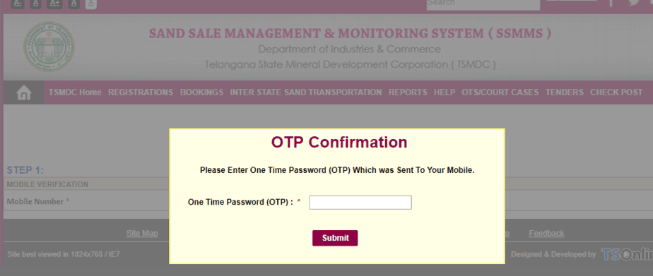Customer-Registration-ts-sand-booking-OTP