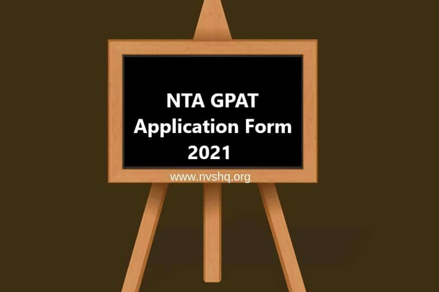 NTA-GPAT-2021-application-form
