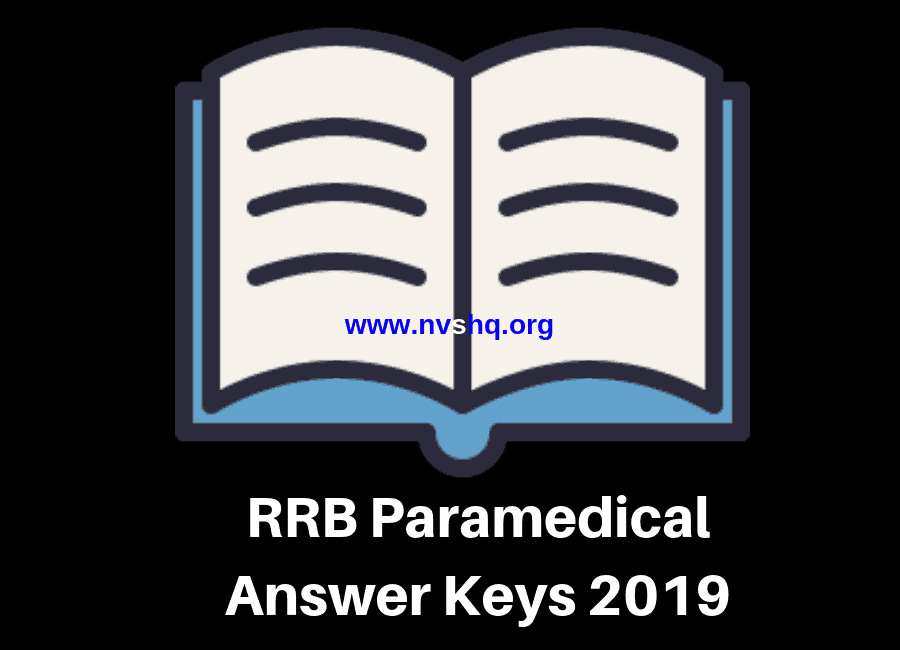 RRB Paramedical Answer Keys 2019 (Released) Solution Paper