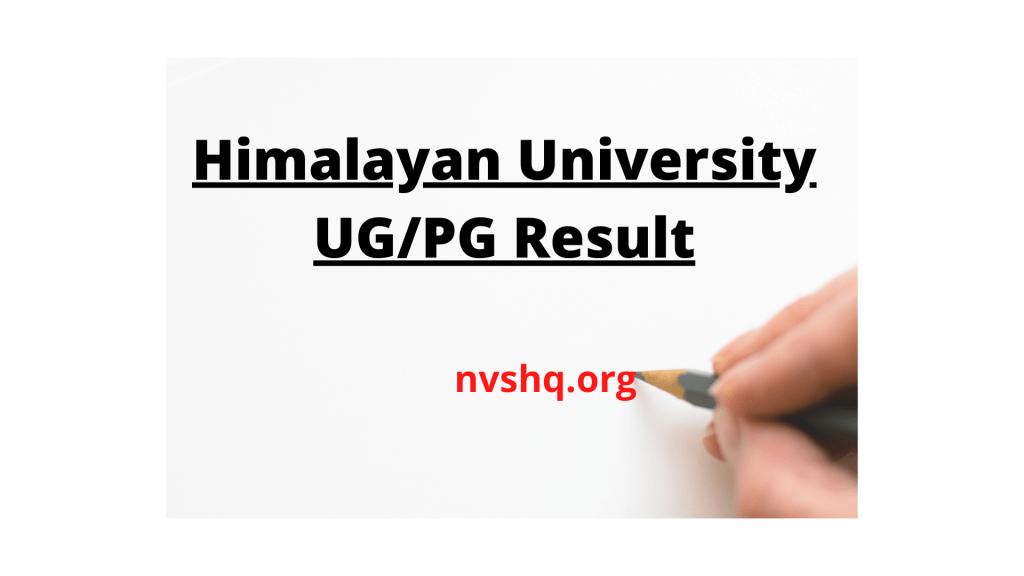himalayan-university-result-2020