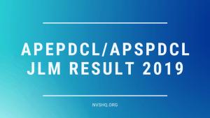 APEPDCL APSPDCL JLM Result 2019