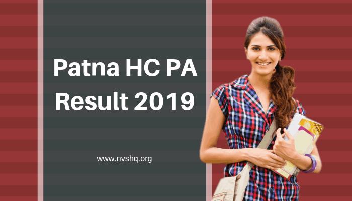 Patna HC PA Result 2019