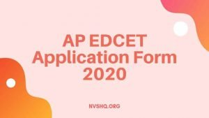 AP EDCET Application Form 2020