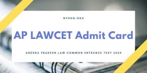 AP LAWCET Admit Card 2020