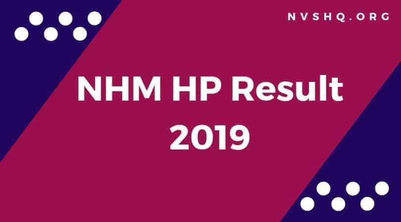 NHM HP Result 2019
