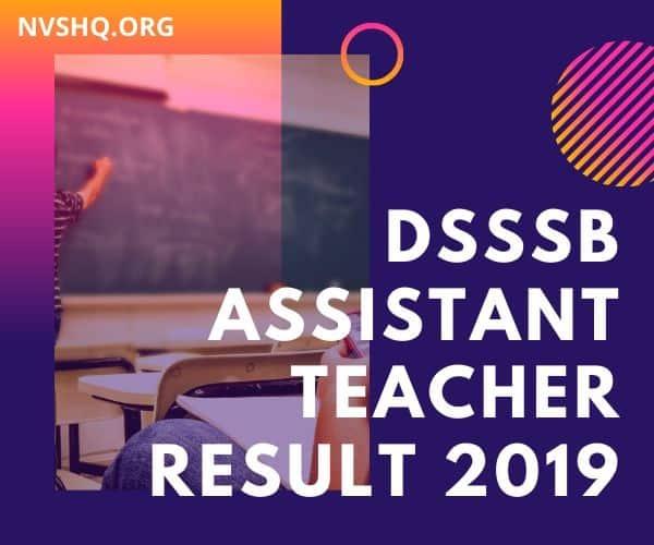 DSSSB-Assistant-Teacher-Result-2019