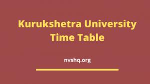kuk-time-table-2020