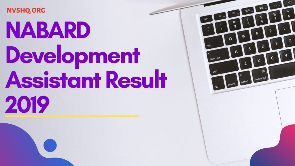 NABARD Development Assistant Result 2019