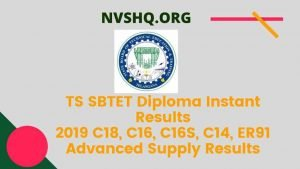 TS SBTET Diploma Instant Results 2019 C18, C16, C16S, C14, ER91 Advanced Supply Results