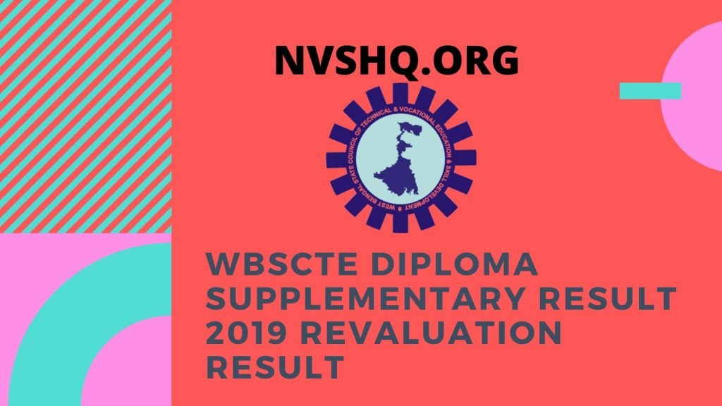 WBSCTE Diploma Supplementary Result 2019 Revaluation Result