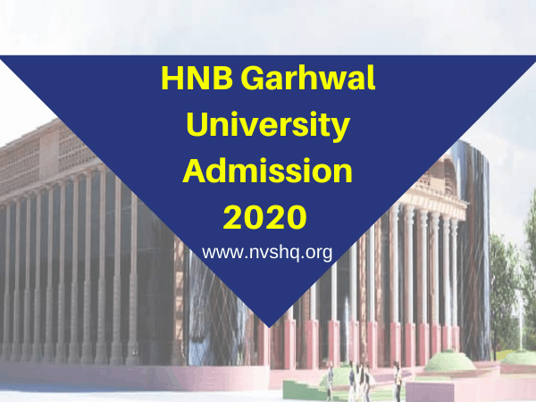 HNB Garhwal University Admission 2020