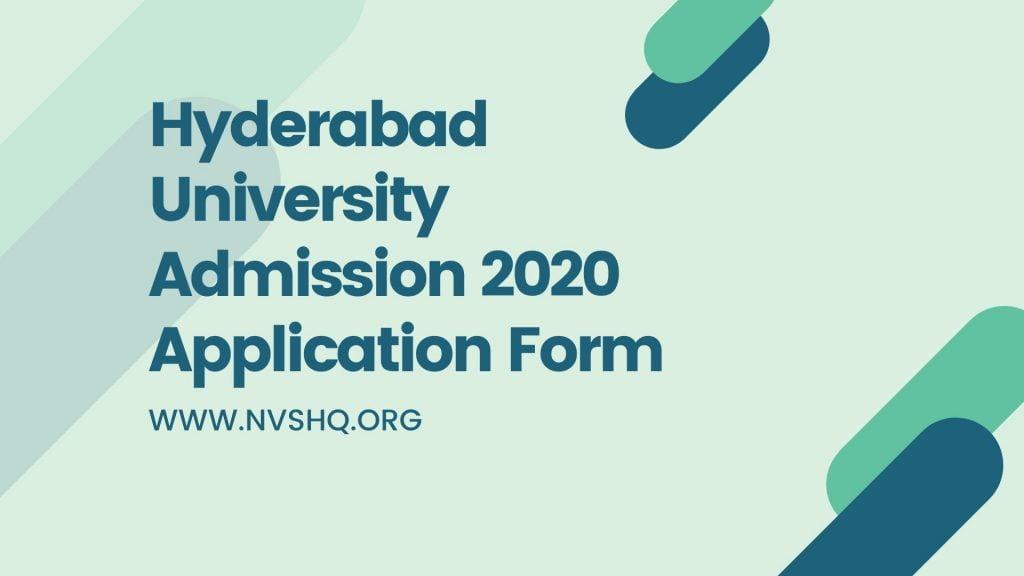 Hyderabad University Admission
