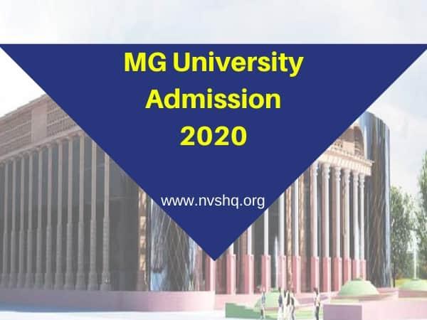 MG University Admission 2020
