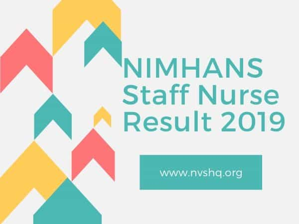 NIMHANS Staff Nurse Result