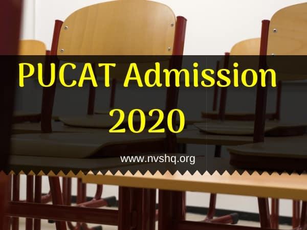 PUCAT Admission 2020