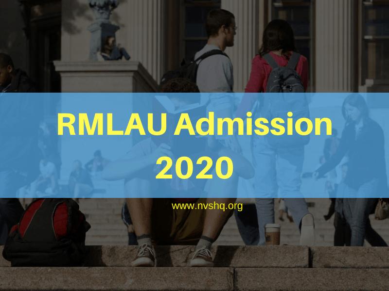 RMLAU Admission 2020