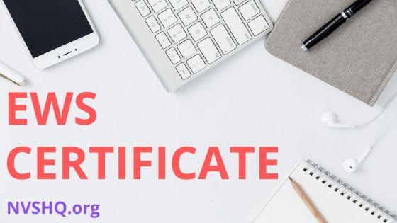 EWS_Certificate