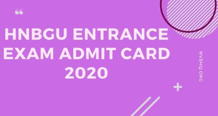 HNBGU_Admit_Card_2020