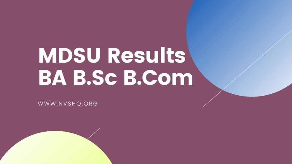 MDSU Results