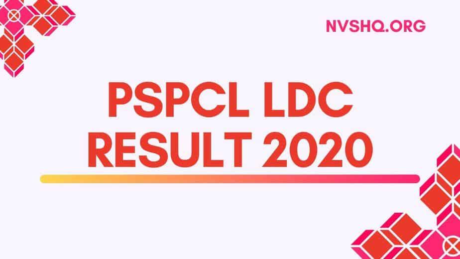 PSPCL LDC Result 2020