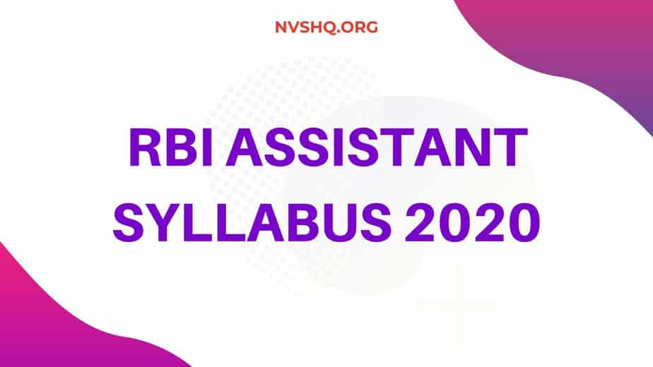 RBI Assistant Syllabus 2020