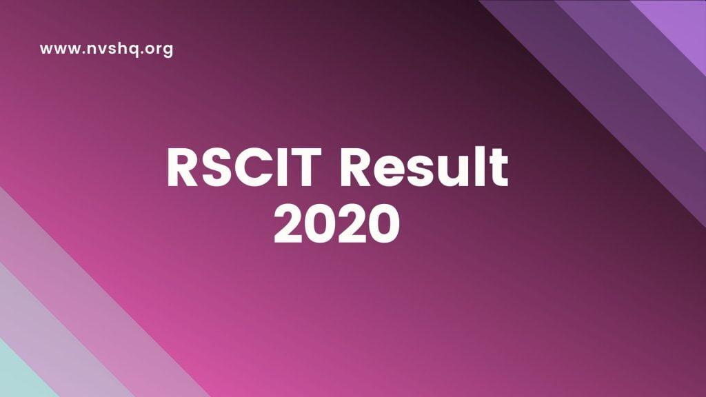 RSCIT Result 2020