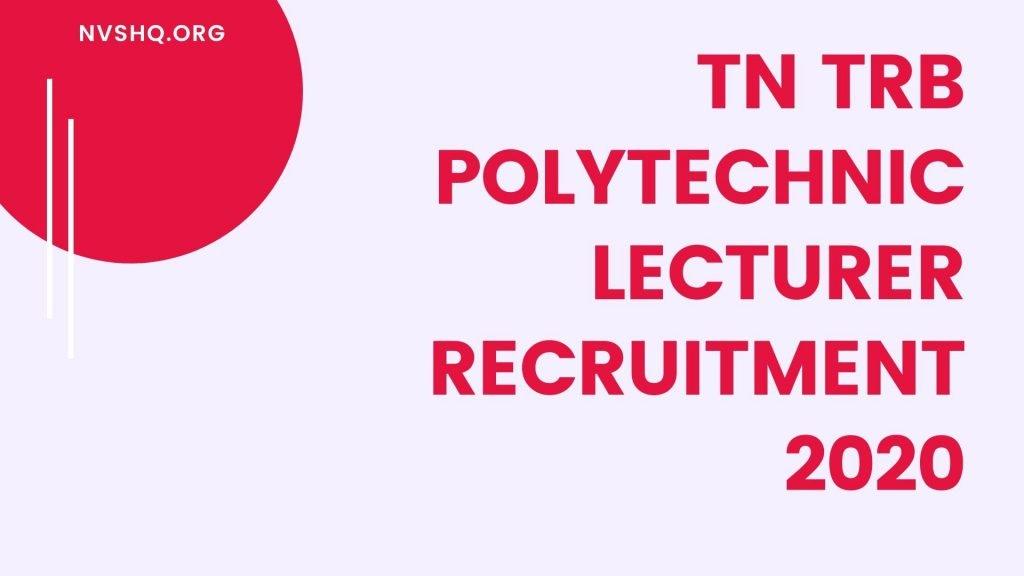 TN_TRB-Polytechnic5Lecturer=Recruitment+2020