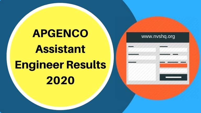 APGENCO Assistant Engineer Results 2020