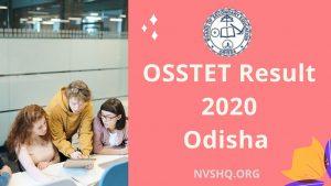 OSSTET Result 2020