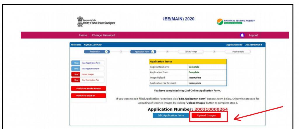 JEE 2020 registration