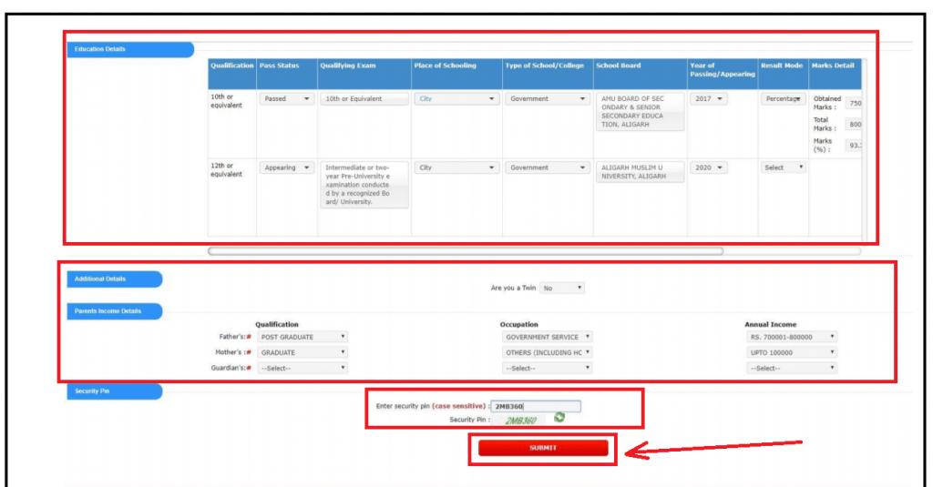 JEE 2020 registration Screenshot
