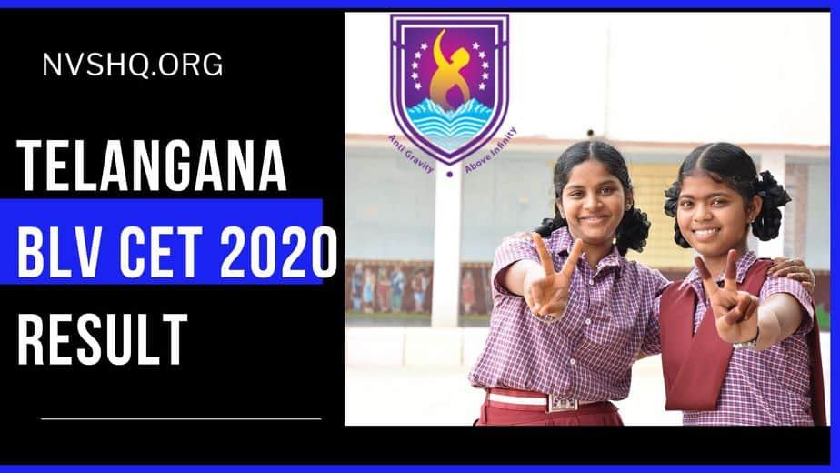Telangana BLV CET 2020 Result