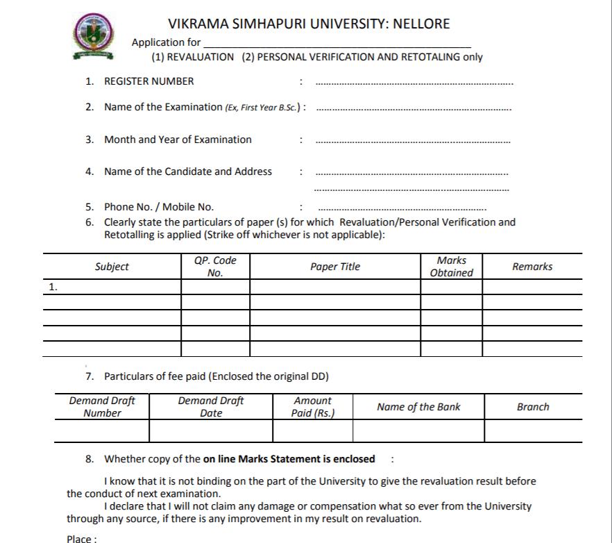 VSU-Revaluation-form