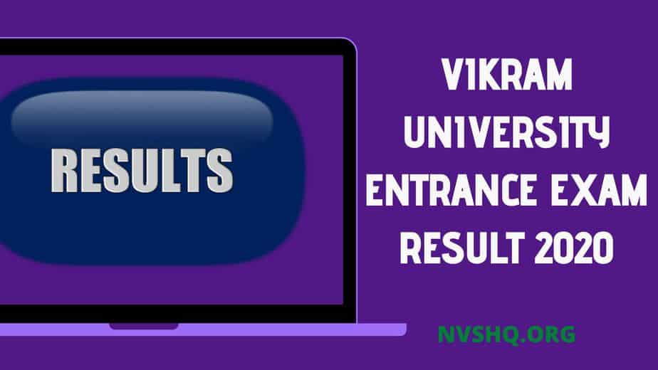 Vikram University Entrance Exam Result 2020