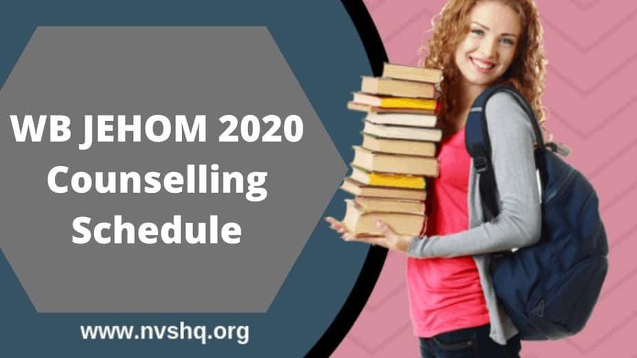 WB JEHOM 2020 Counselling Schedule