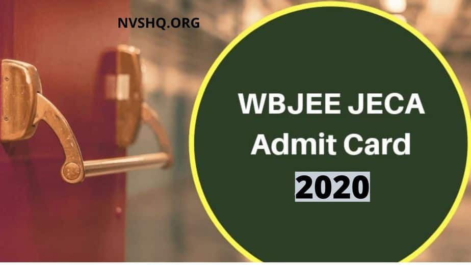 WBJEE JECA Admit Card 2020