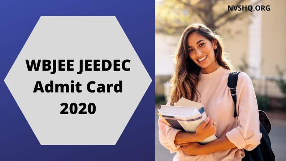 WBJEE JEEDEC Admit Card 2020