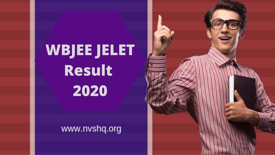 WBJEE JELET Result 2020 Rank Card