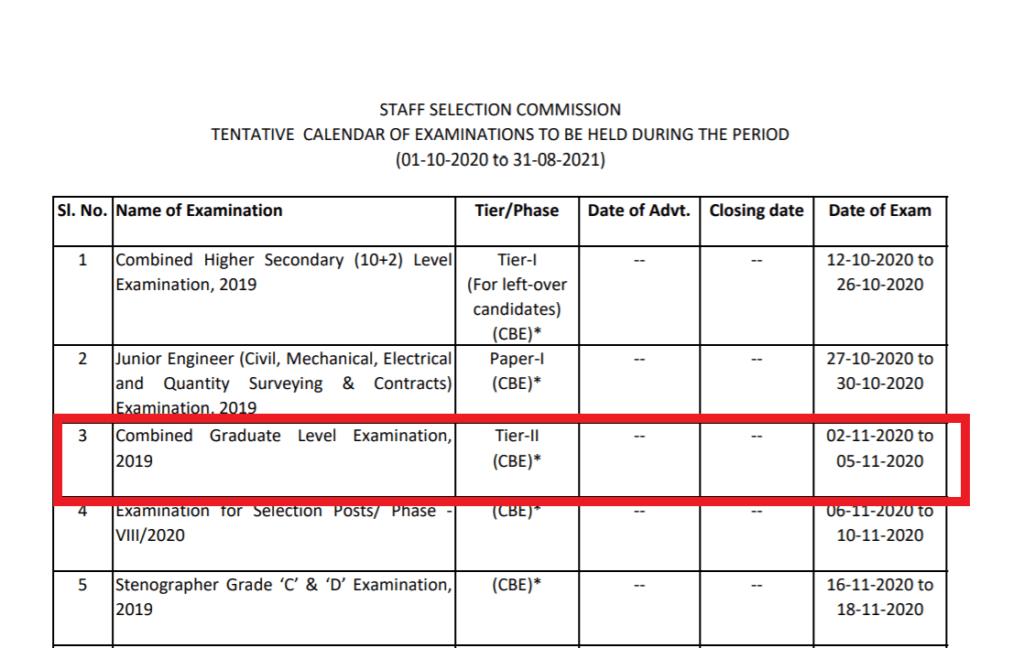 cgl-tier-II-exam-date-notice