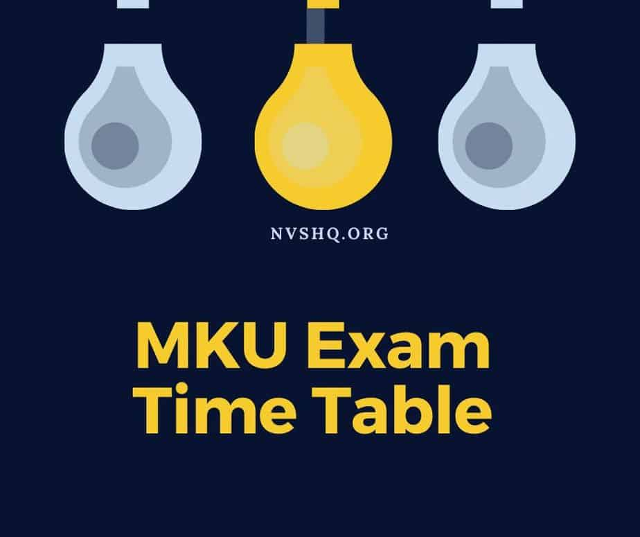 mku-time-table