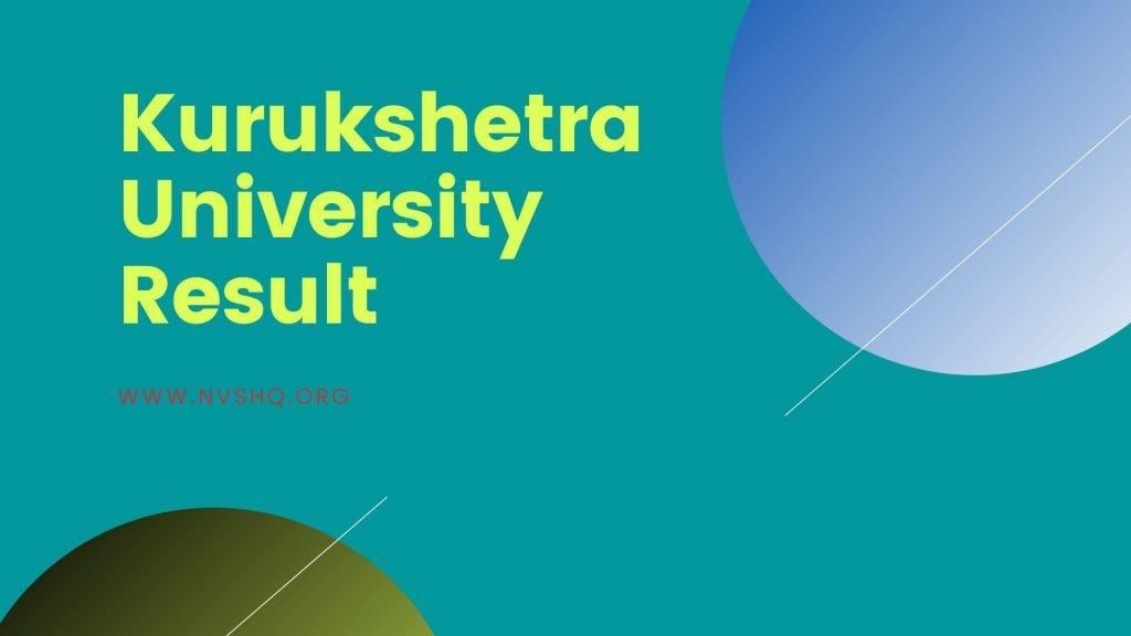 Kurukshetra University Result 2019-2020