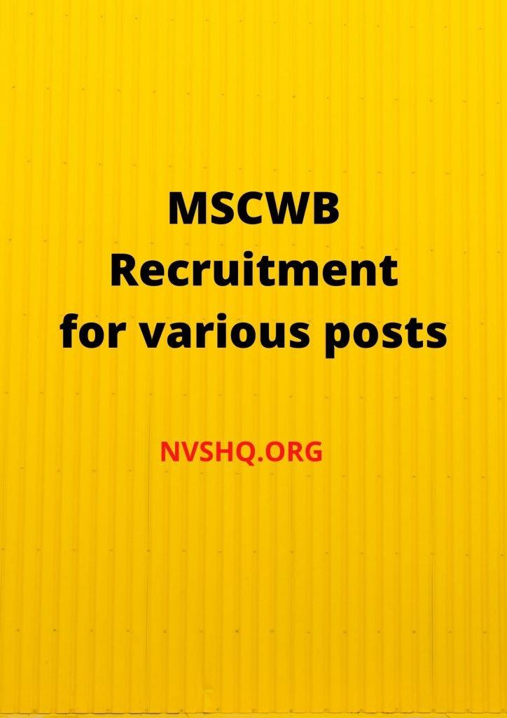 MSCWB-2020-RECRUITMENT