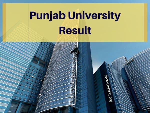 Panjab University Result 2020 Released Ba B Sc B Com 2nd 4th 6th