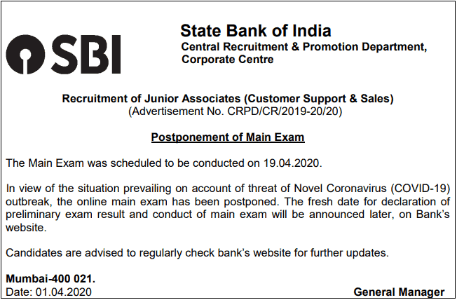 SBI-clerk-mains-exam