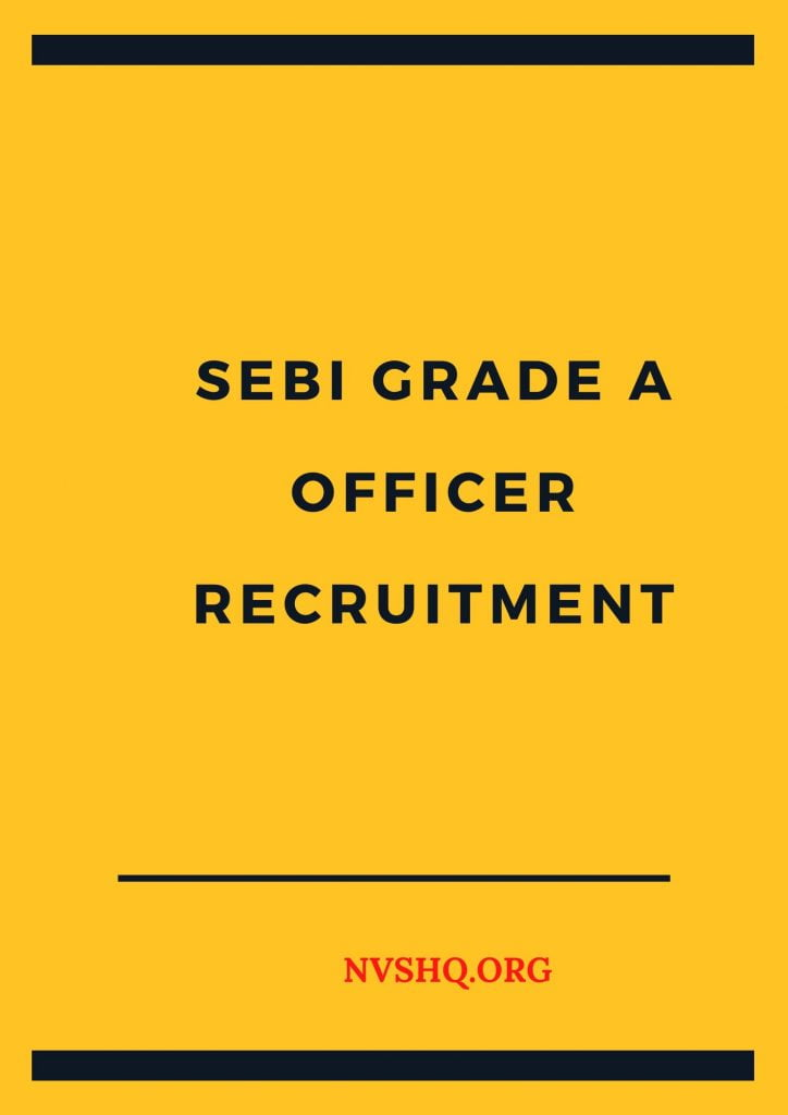 SEBI-grade-A-officer-recruitment