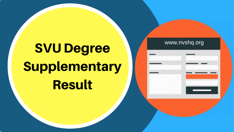 SVU Degree Supplementary Result