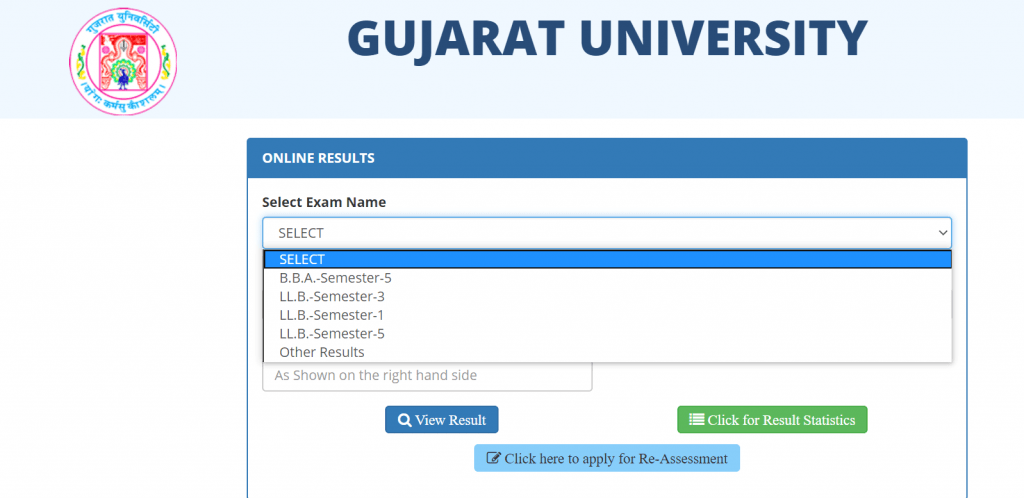 Gujarat-University-result-process