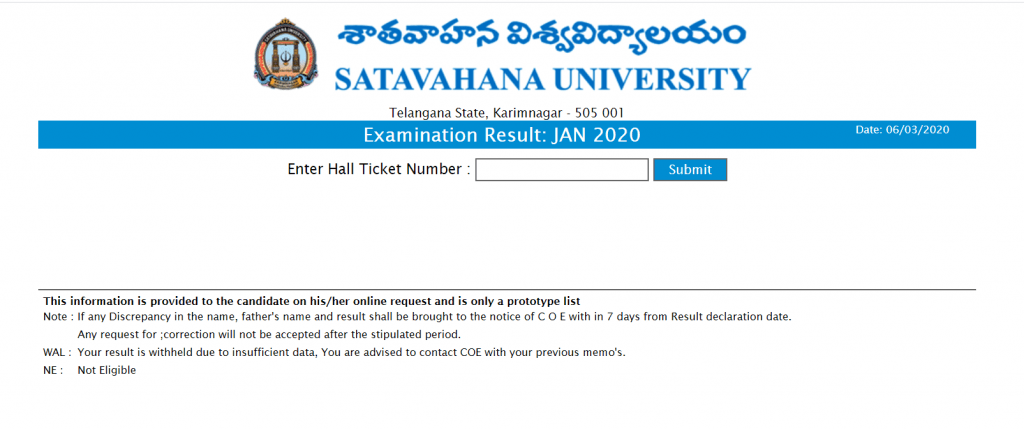 satavahana-university-revaluation