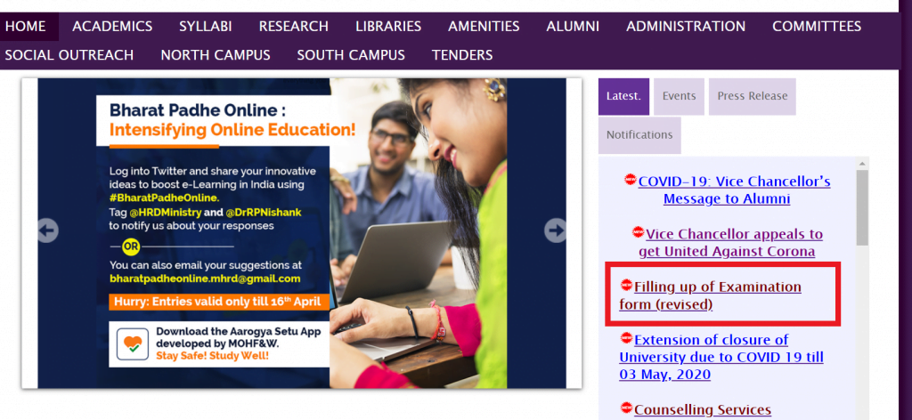 du-online-examination-for