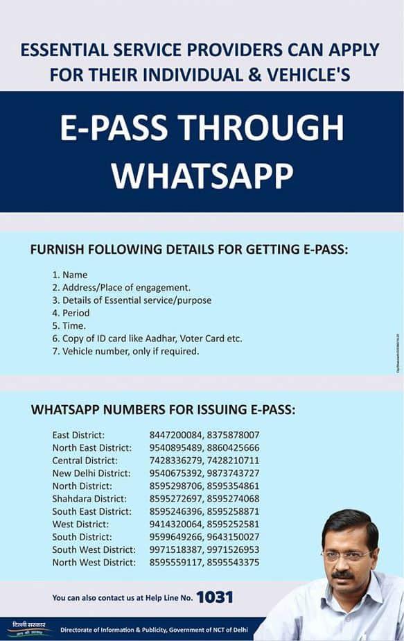 Delhi-ePass-via-WhatsApp